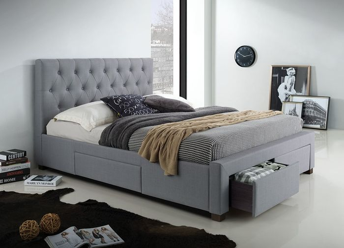 Mo Kazo Queen Bed With Drawers Upholstered Beds King Upholstered Bed Queen Upholstered Bed Bed With Drawers