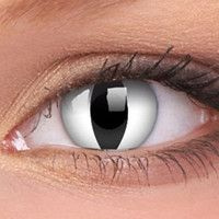 White Cats Eyes Contact Lenses In Your Eyes 8 8 In