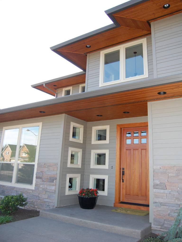 Stained Soffits With Under Lighting Brick House Colors Exterior Paint Colors For House Exterior House Colors