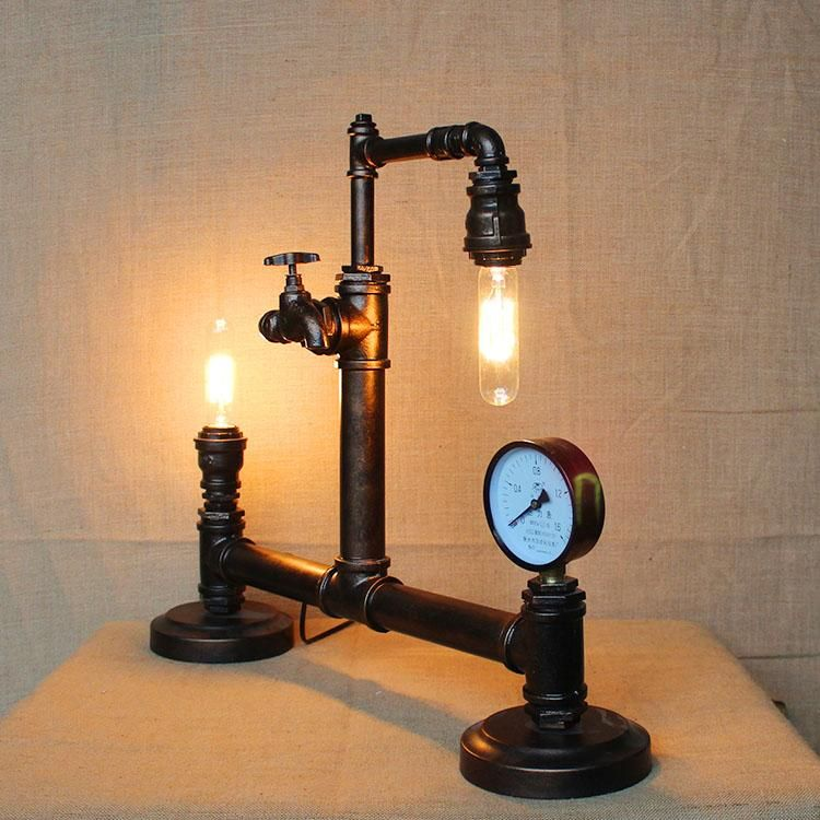 Advanced Wrought Iron Table Lamps High Quality Industrial Metal Lamp Retro  Lamp Edison Bulb Fixtures Thanks Giving Day Gifts