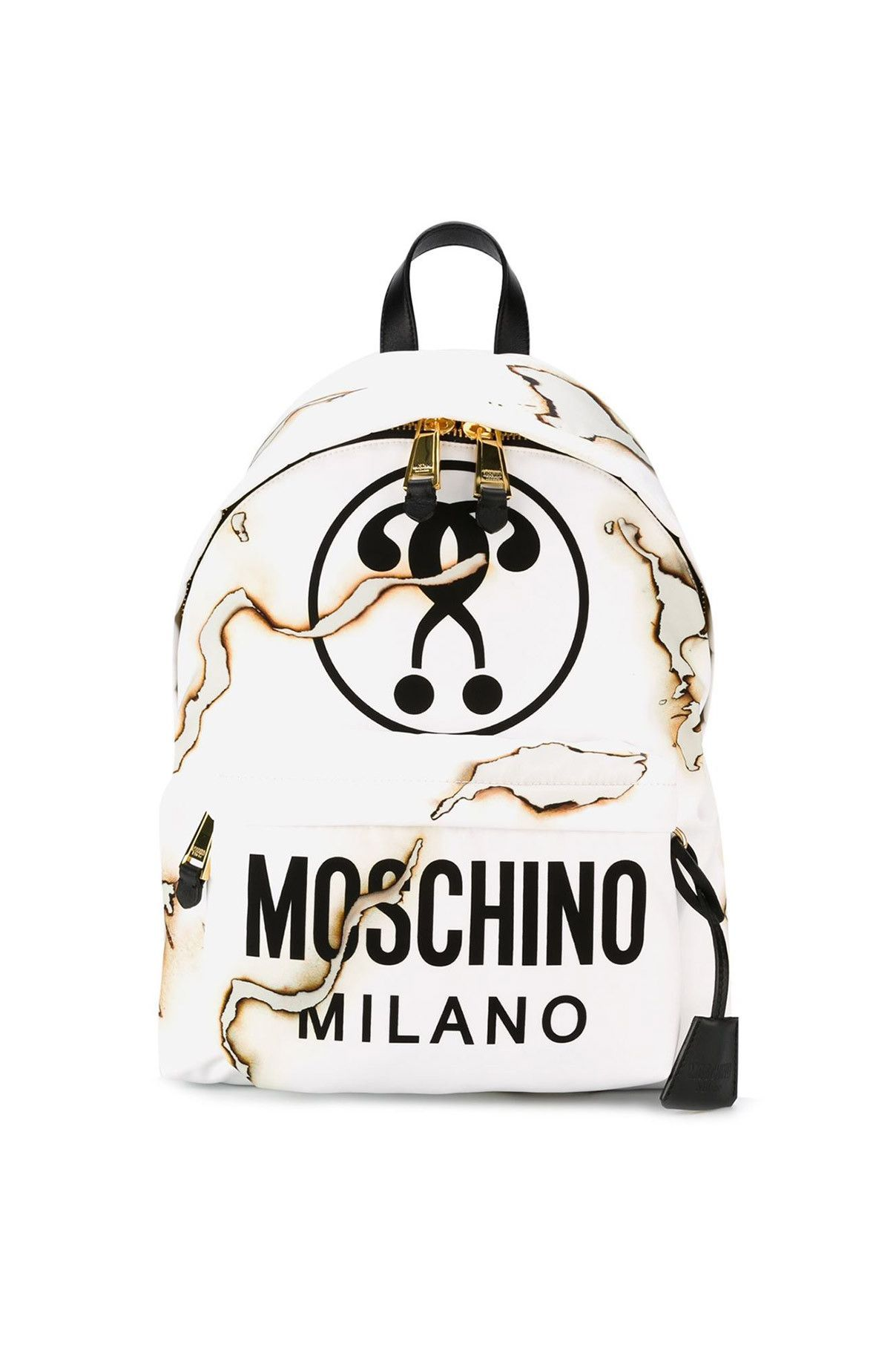 d60eb74b35 Moschino / 04 bag / 04 backpack} Burned Backpack | Products | White ...