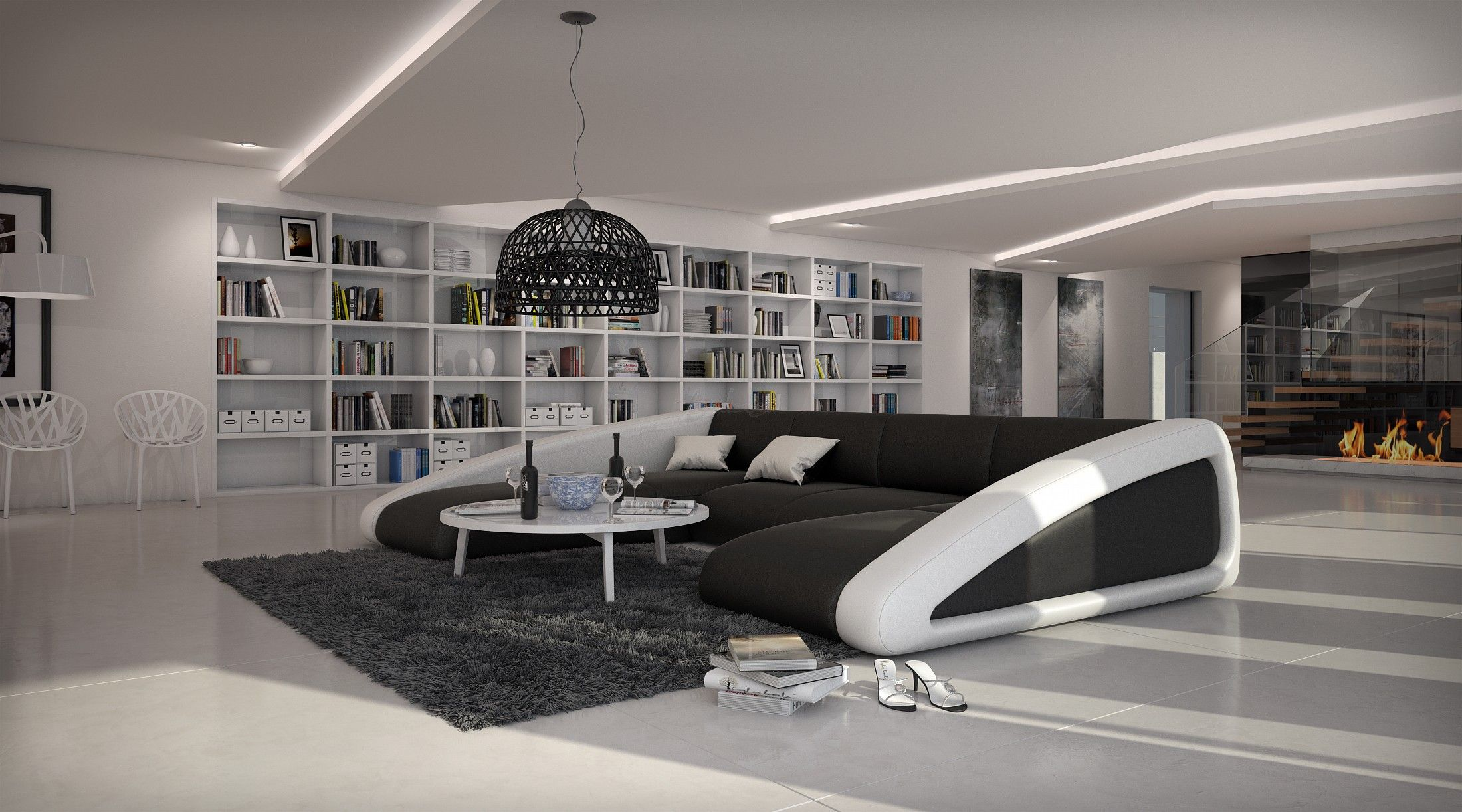 Canapé d angle moderne de grande taille BOAT U 2 699 00 € Cuir