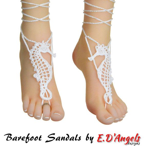 Barefoot sandals, crochet pattern, barefoot sandals wedding ...