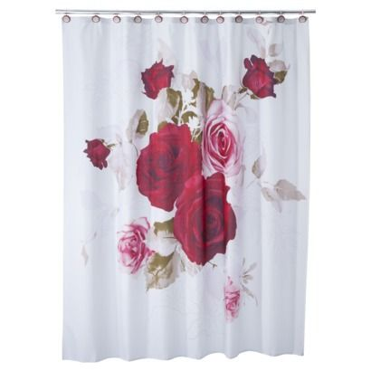 Prelude Shower Curtain Rose Shower Curtain Red Curtains Curtains