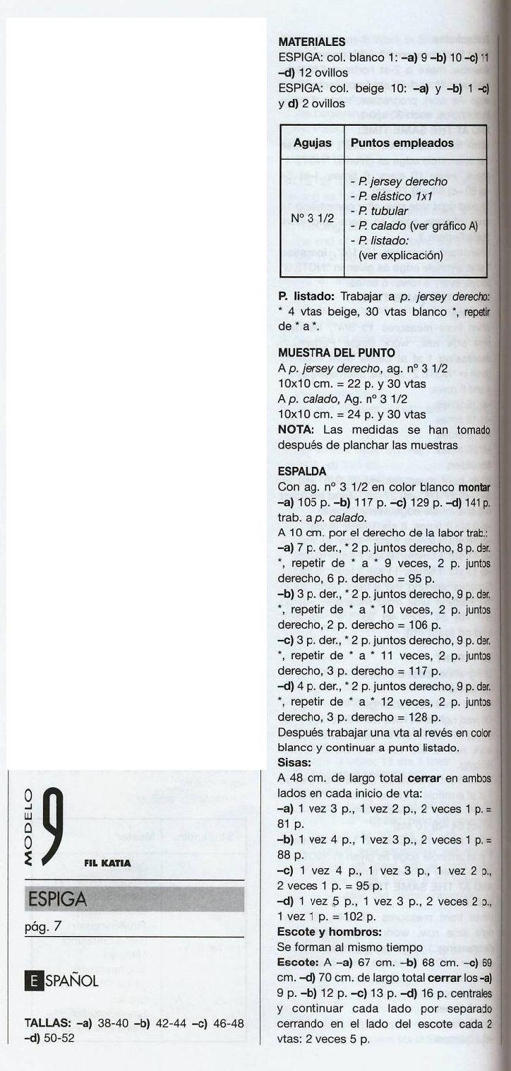 patrones asgaya: JERSEYS MUJER Y HOMBRE A DOS AGUJAS | Tejido ...