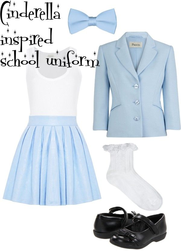 """Cinderella inspired school uniform"" by smascee on Polyvore"