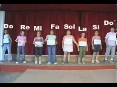LOS SIETE VECINOS - Cancion notas musicales - YouTube