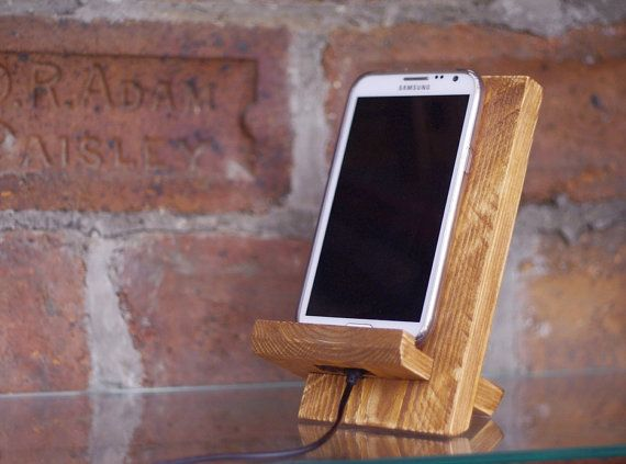 wooden docking station reclaimed wood iphone stand. Black Bedroom Furniture Sets. Home Design Ideas