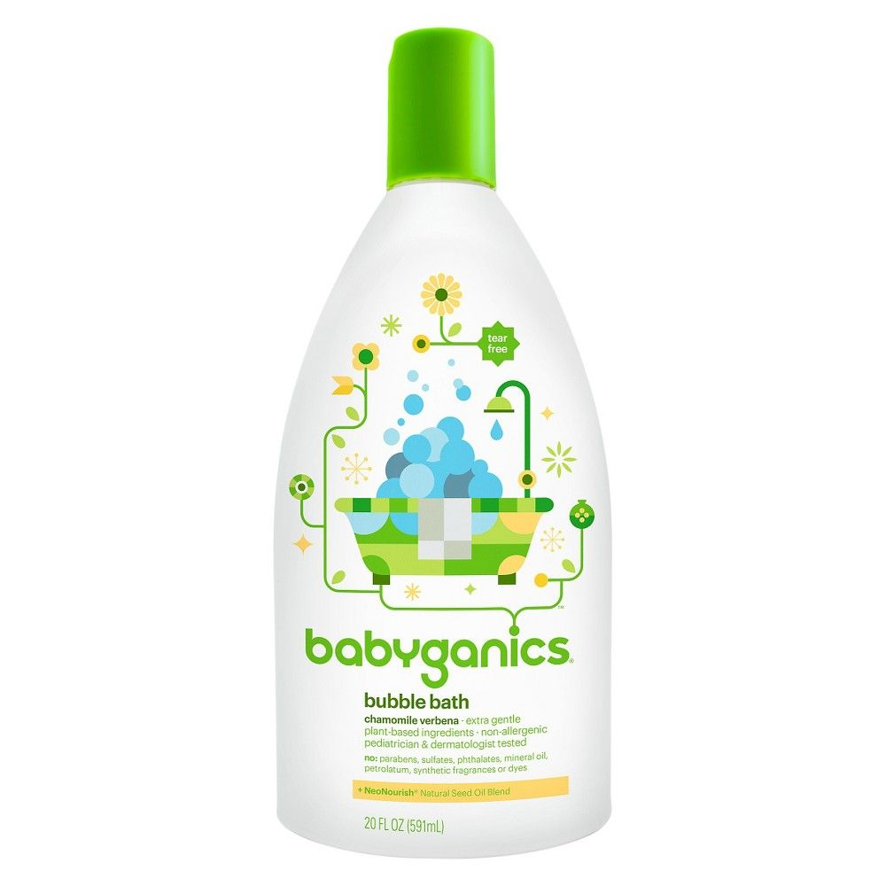 Babyganics Baby Bubble Bath Chamomile Verbena 20oz Bottle