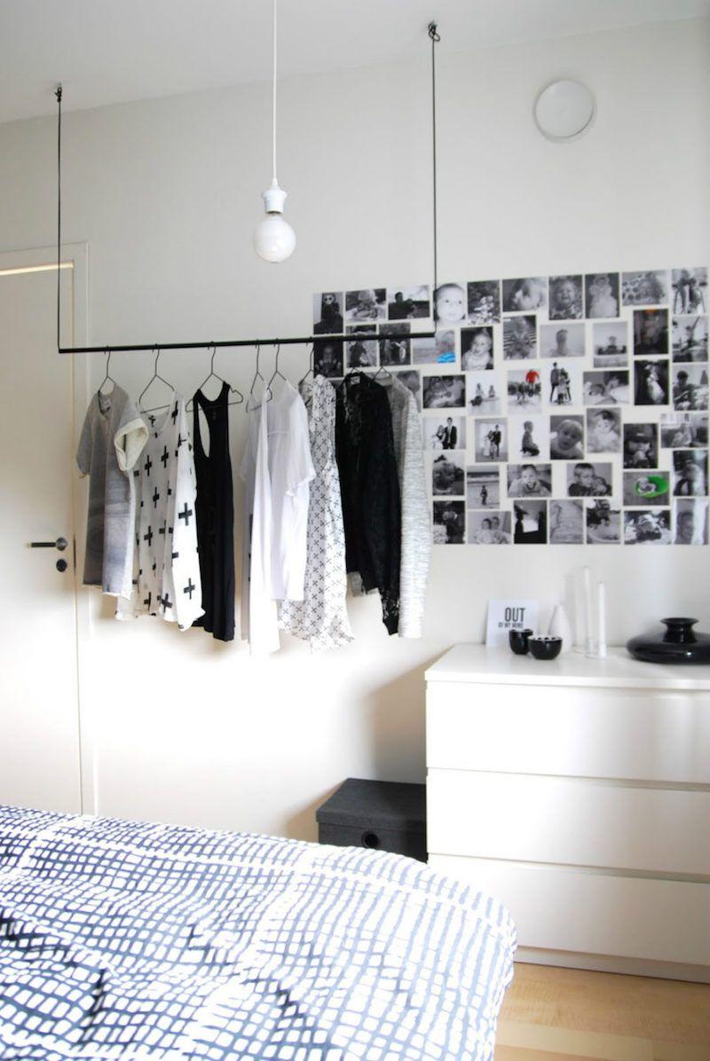 Porte Vetement Penderie Et Armoire Grillagee Les Rangements Petit Espace Interior Hanging Wardrobe Storage Open Wardrobe