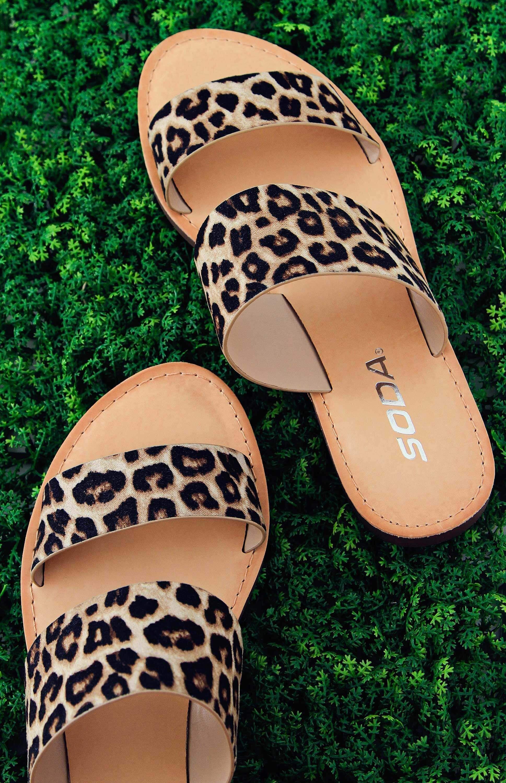 Soda Shoes Allie Slide Sandals in