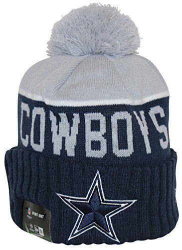 a8b793abbbb New Era NFL15 On-Field Sport Knit Dallas Cowboys Navy Gray Pom Beanie