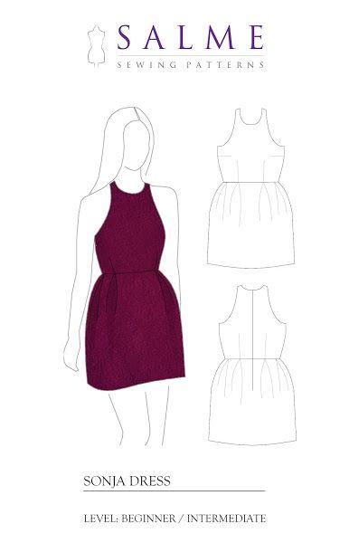 kostenloses Schnittmuster für ein Kleid. | kostenlose Schnittmuster ...