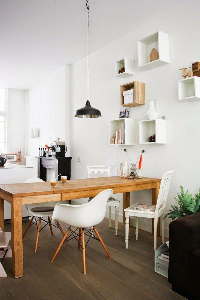 Wanddesign Ideen Wohnideen Küche Skandinavisch Wandregale