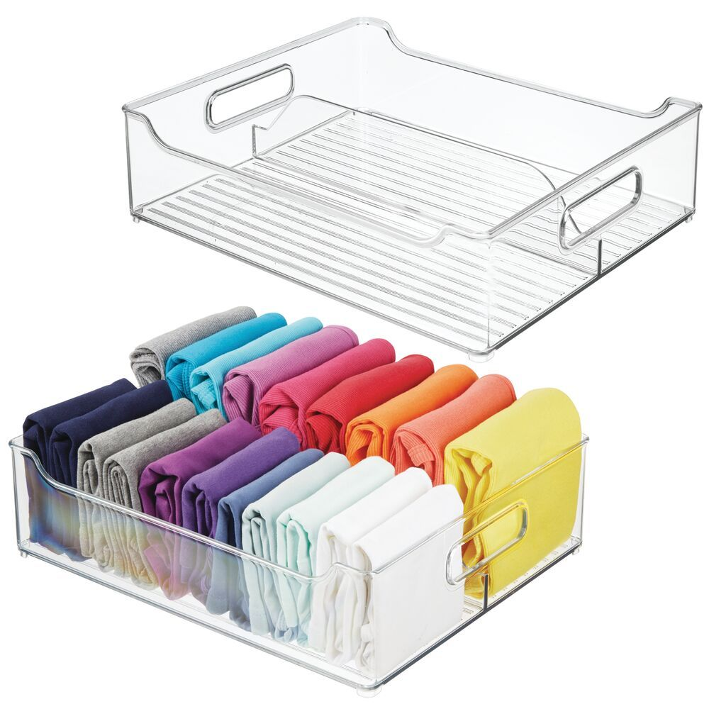2 Section Plastic Closet Drawer Organizer 14 5 X 12 X 4 Bedroom Closet Storage Closet Storage Bins Closet Organizer With Drawers