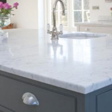 Faux Marble White-Grey