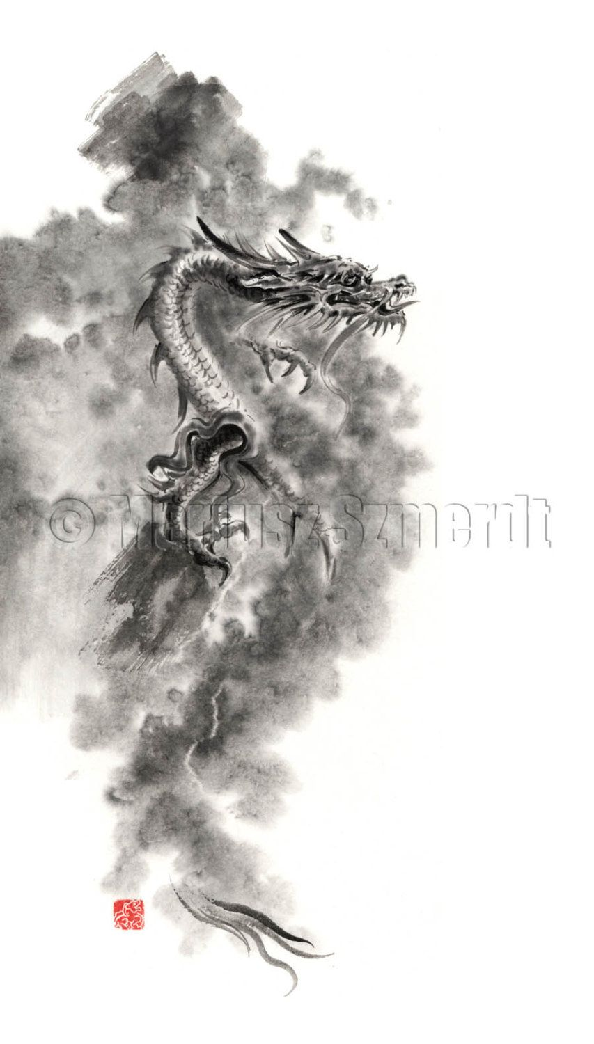 Imagine Dragon Asian dragon japanese dragon chinese by SamuraiArt