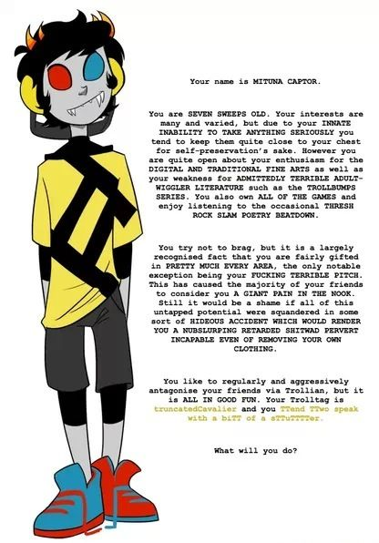 I'm literally crying... I can't read Mituna sadstuck of any kind... T-T