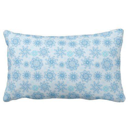 #Holiday Snowflakes Pillow - #Xmas #ChristmasEve Christmas Eve #Christmas #merry #xmas #family #kids #gifts #holidays #Santa