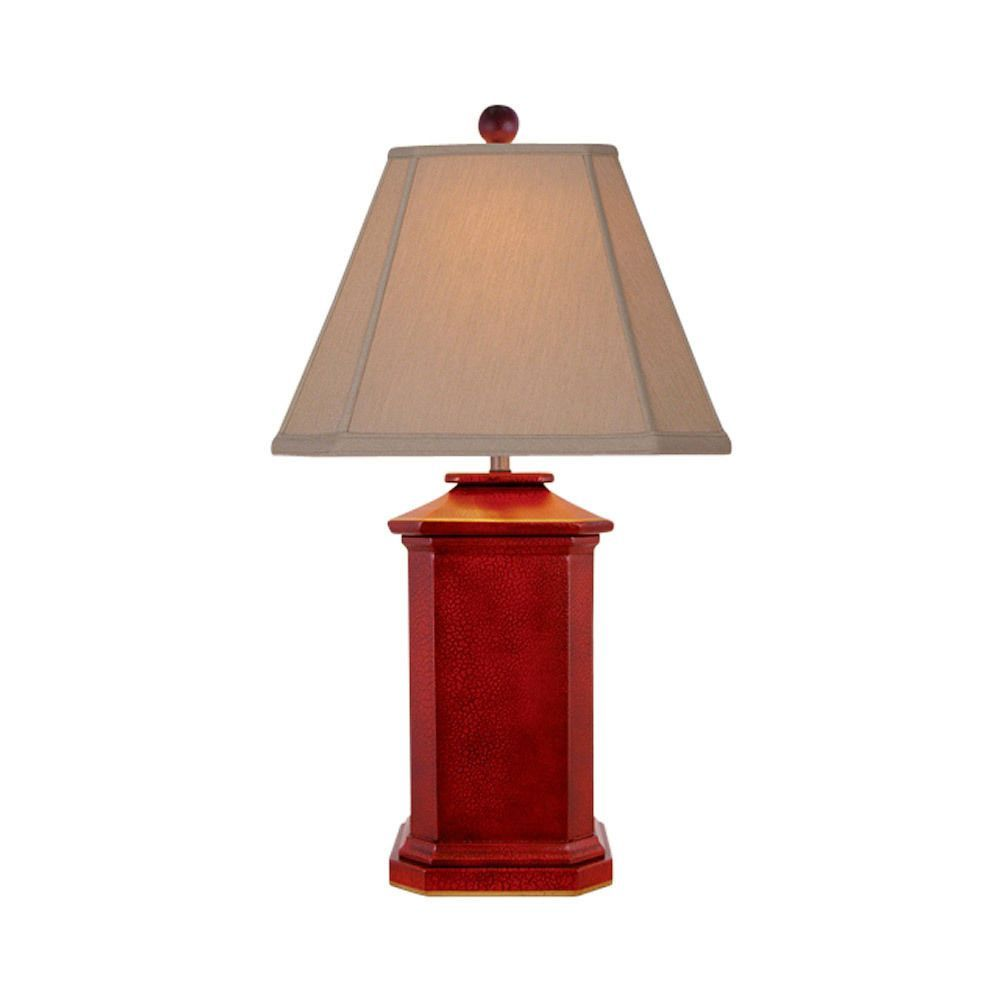 Chinese Red Lacquer Wooden Square Vase Style Table Lamp 27 Captivating Lamp Bedroom Inspiration Design