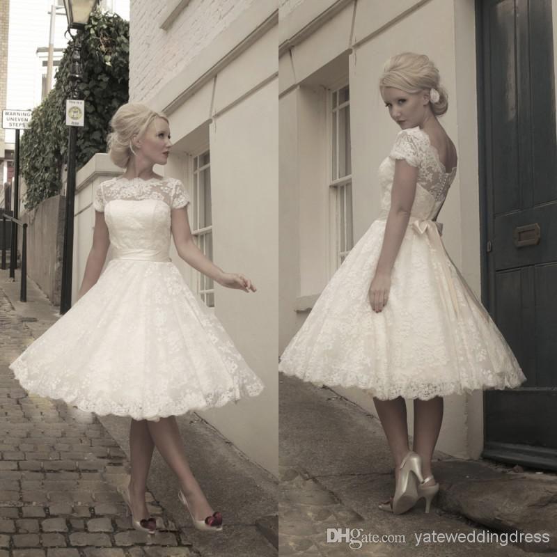 2014 Sexy Beach Sheer Sleeve Wedding Ball Gowns A-Line -3985