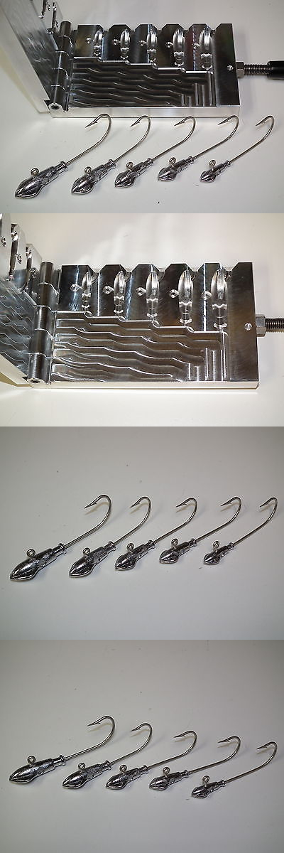 Tackle Craft 165931: Saltwater Squid Jig Mold 1/2,3/4,1,1.5,2 Oz Cnc Aluminum -> BUY IT NOW ONLY: $165.0 on eBay!