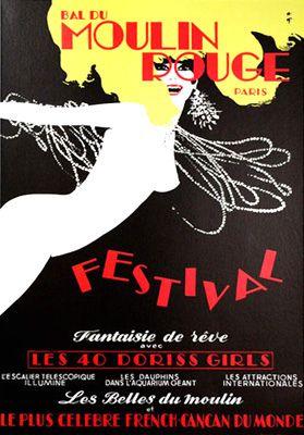Bal du Moulin Rouge: Festival by René Gruau