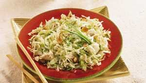 Light Asian Cabbage-Chicken Salad... tried it today, DELISH!