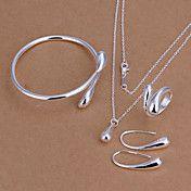 vanddråbe forsølvede smykker sæt (købe 1 få 2... – DKK kr. 68