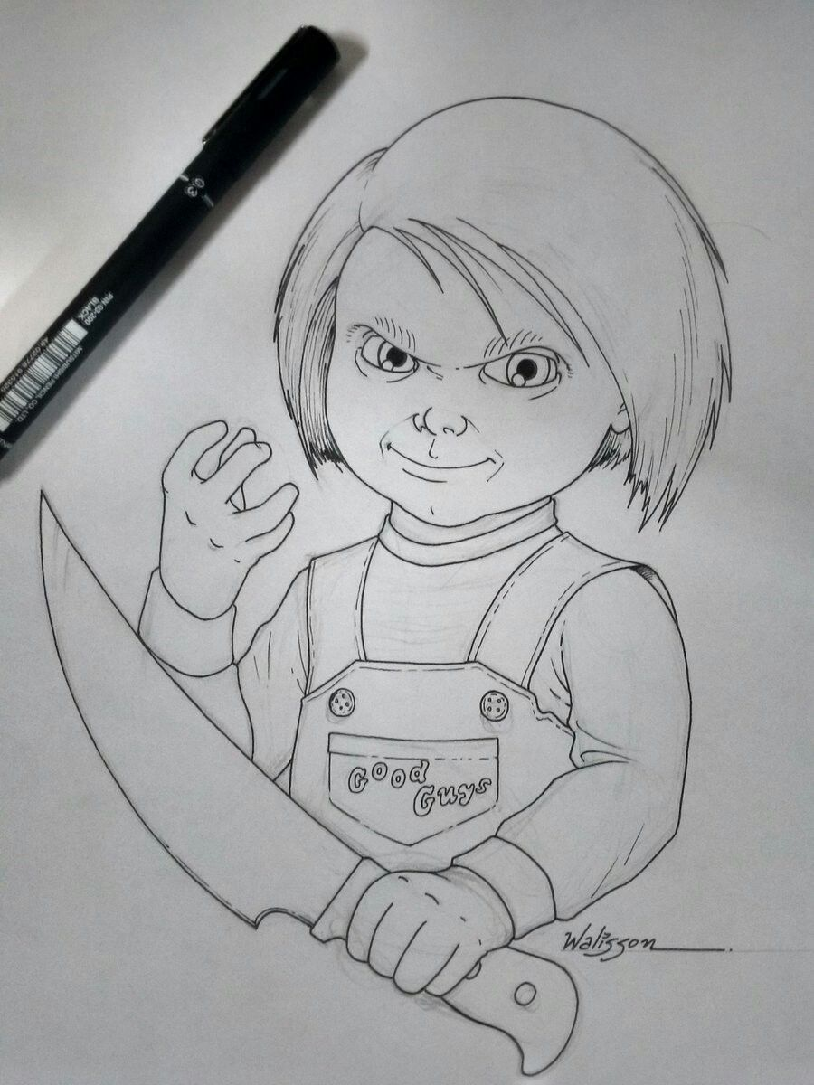 Pin By The Slasher On Chucky Horror Artwork Chucky Horror