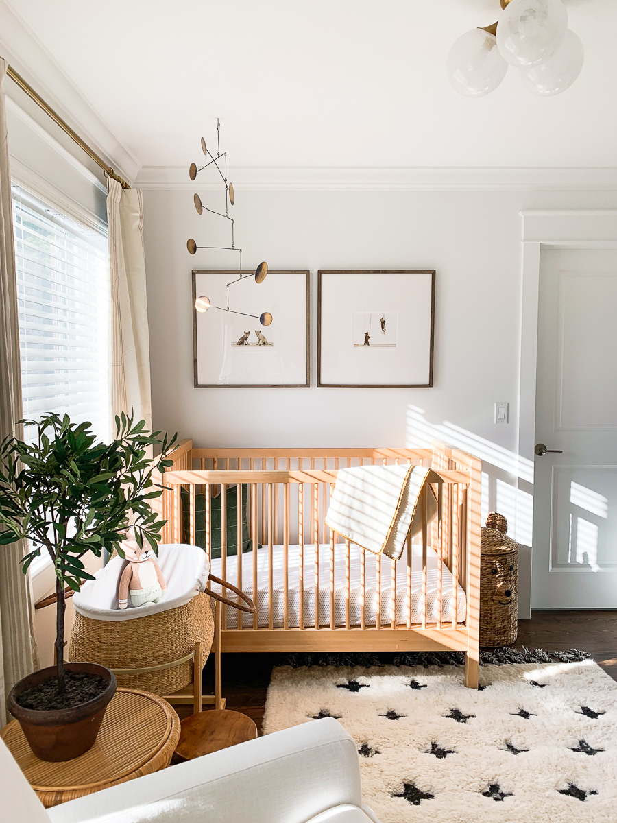 Nursery Baby Brothers Woodland Nursery Tour Elizabeth Street Post In 2020 | Nursery Baby Room, Small Space Nursery, Baby Room Design