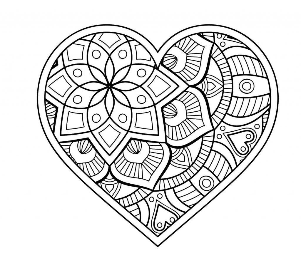 Malvorlage Herz | Mandala | Pinterest | Herzchen, Hochzeitszeitung ...
