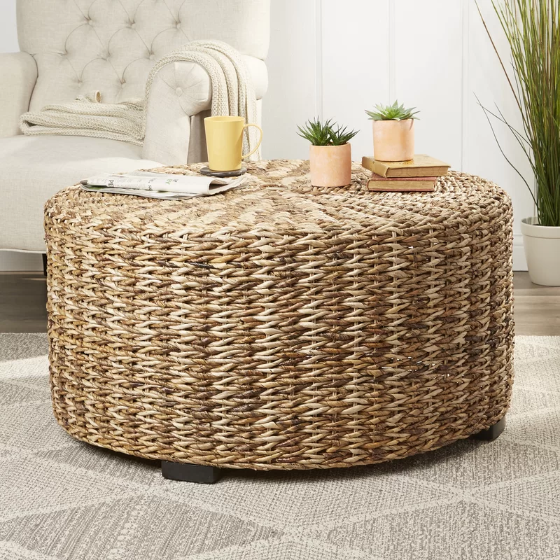 Claiborne Woven Solid Coffee Table In 2020 Wicker Coffee Table