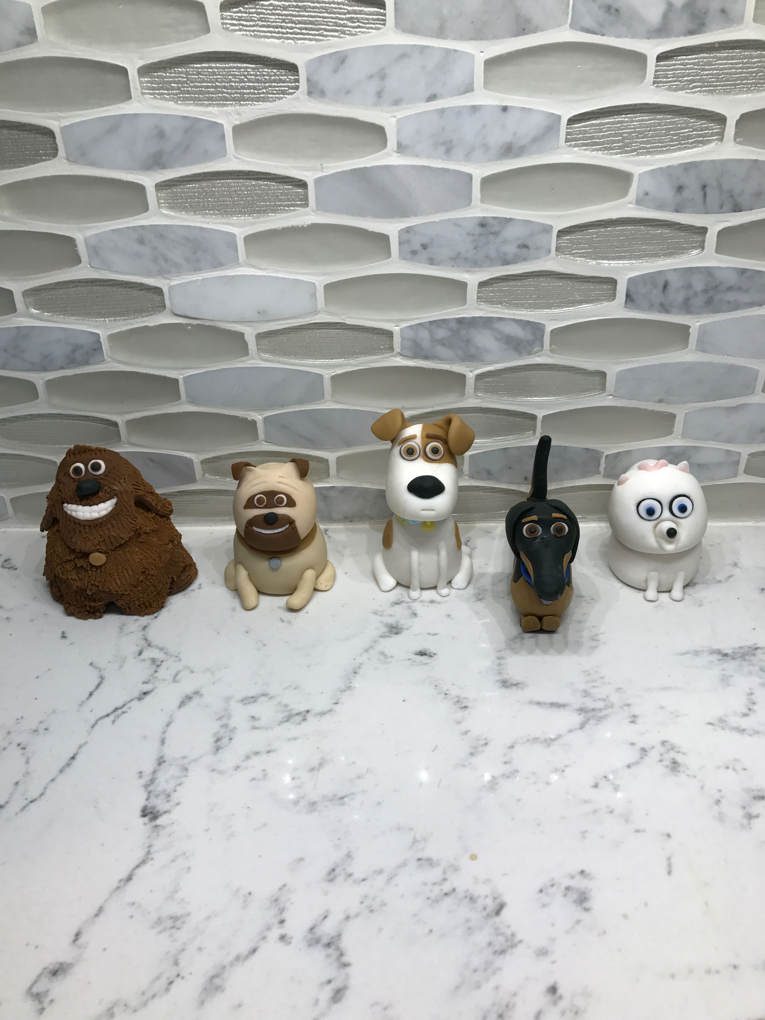 The Secret Life Of Pets Characters In Fondant 차