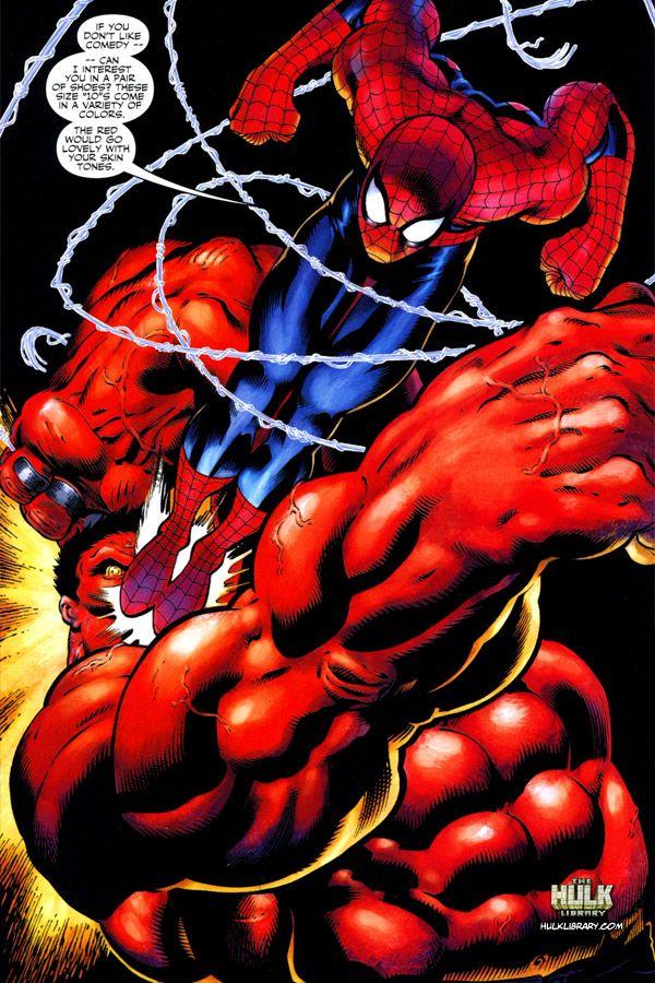 Spiderman vs red hulk