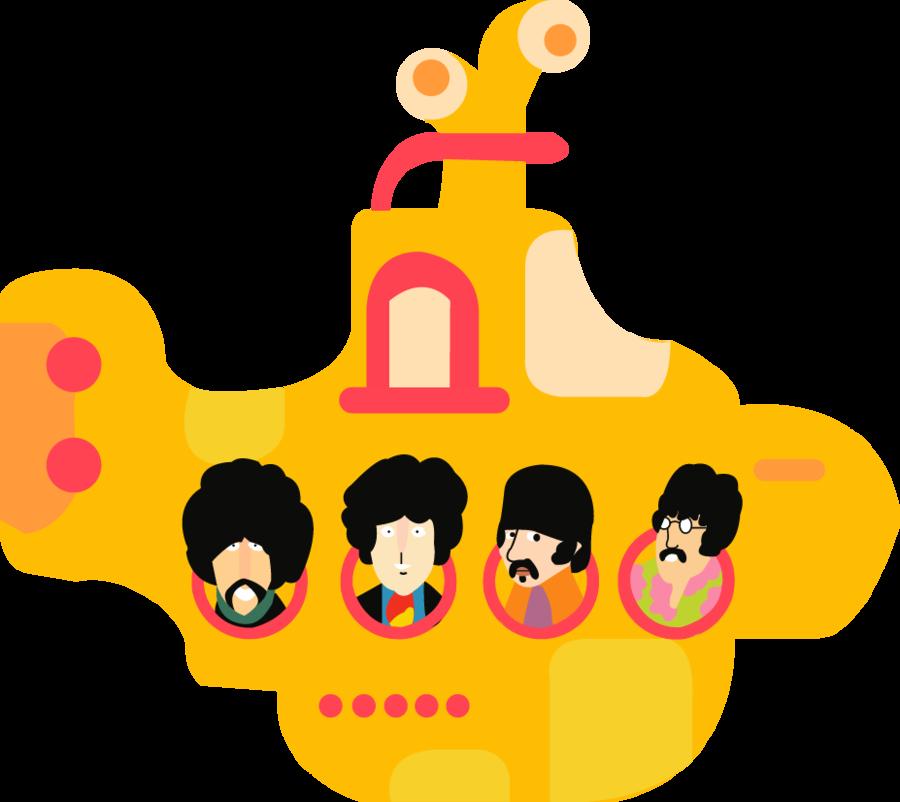 The Beatles Vector Beatles Illustration Yellow Submarine The Beatles