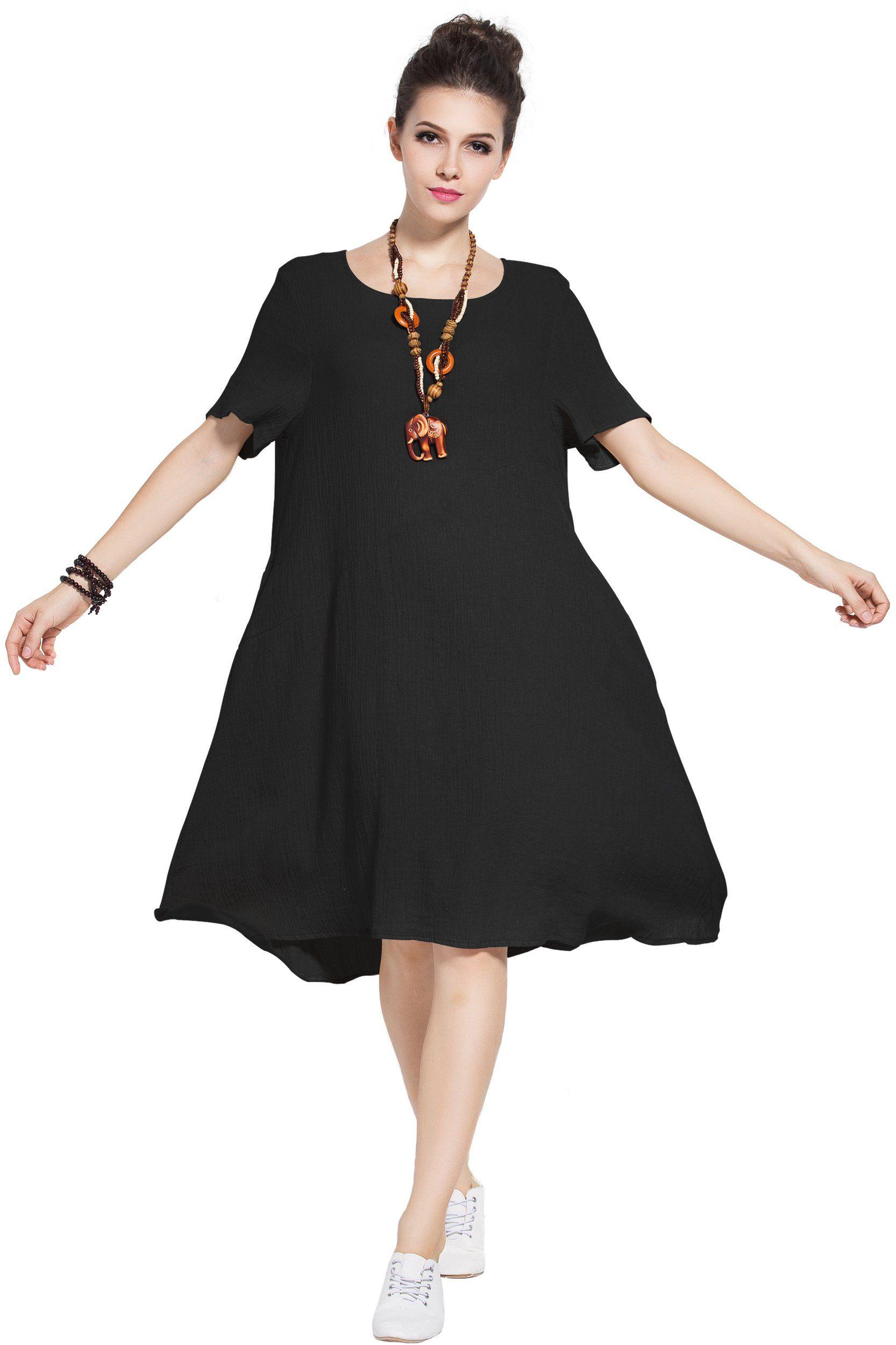 linen summer dresses plus size