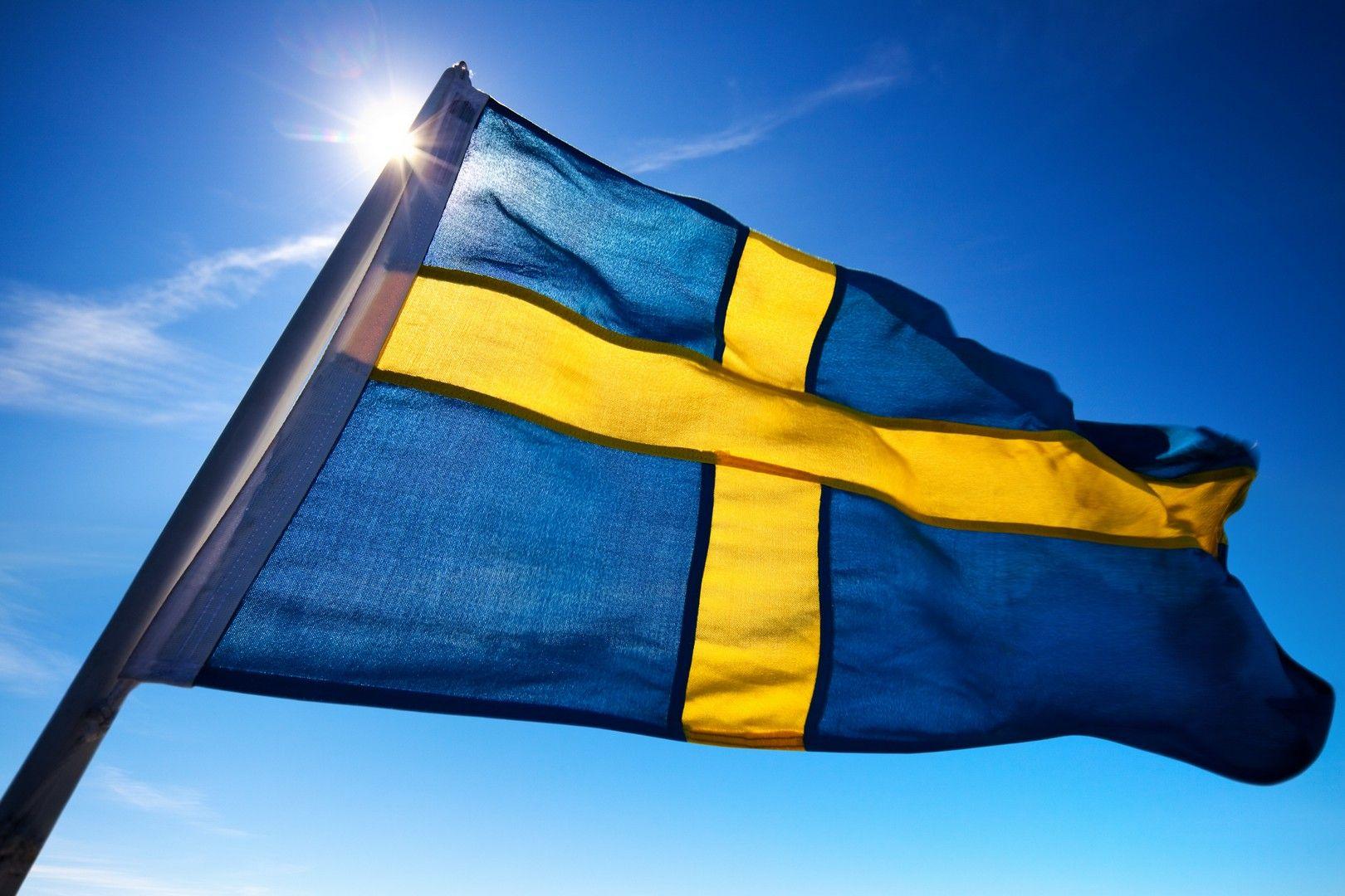 Flag Of Sweden Wallpaper