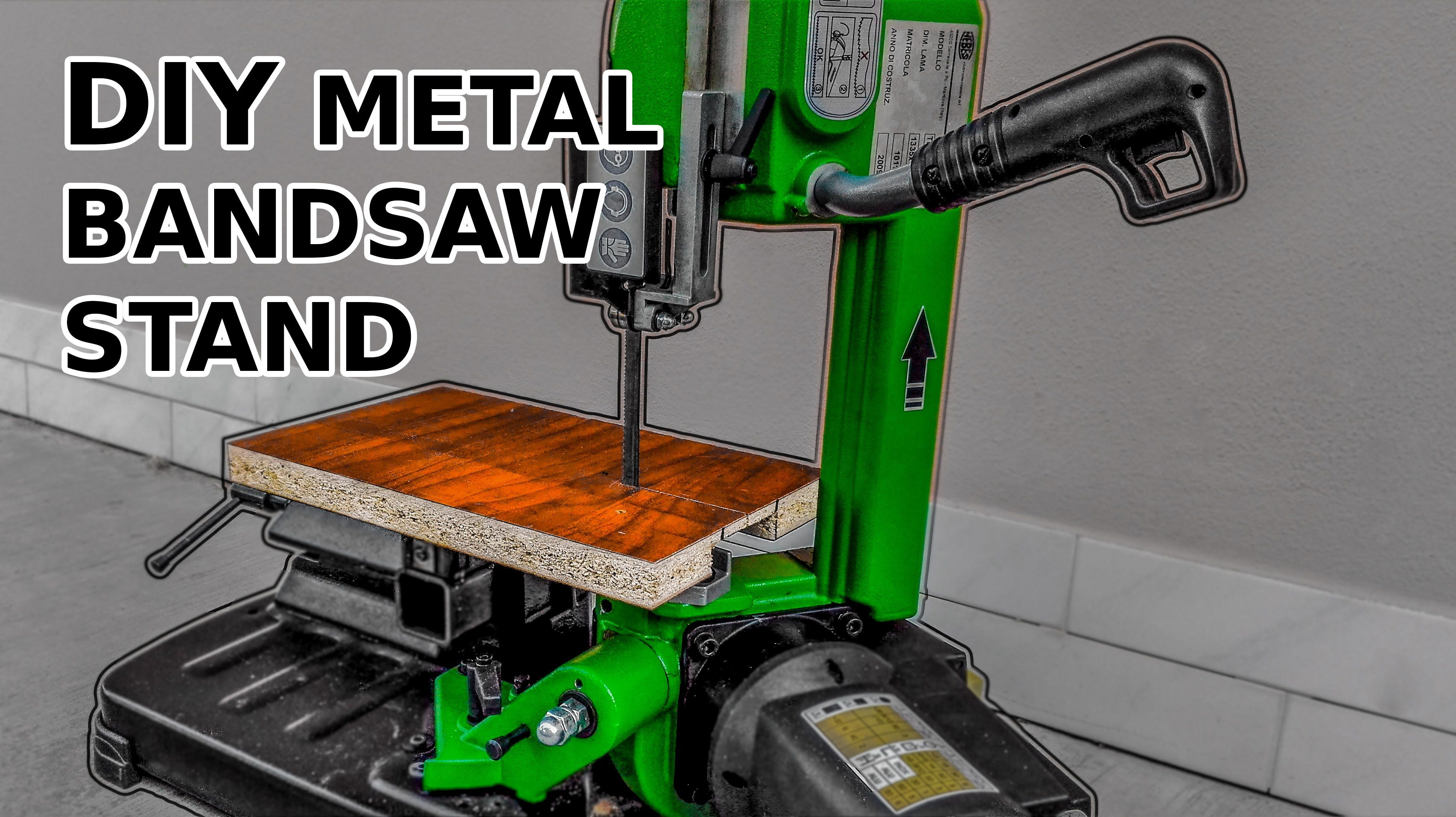 diy metal band saw stand modification youtube welding and fab