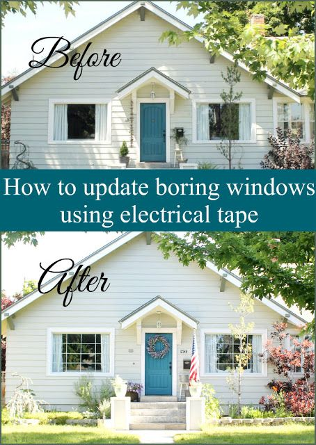 I have a really simple project to share with you today! I got super creative and used electrical tape to update our boring windows. & How to update boring windows using electrical tape | My Home and ...