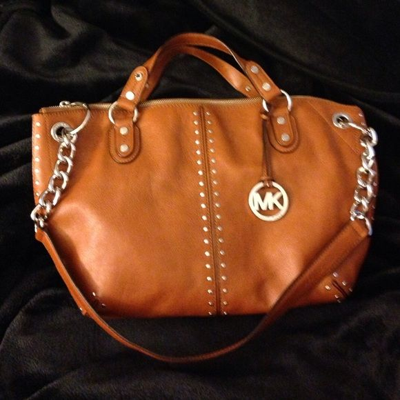 18e0571c32da Michael Kors Astor Luggage Large Chain Satchel New without tags ...