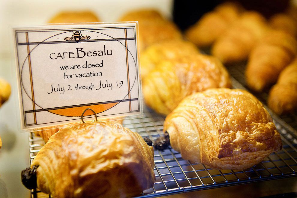 cafe besalu pastries, opening hours, will reopen Jan 11