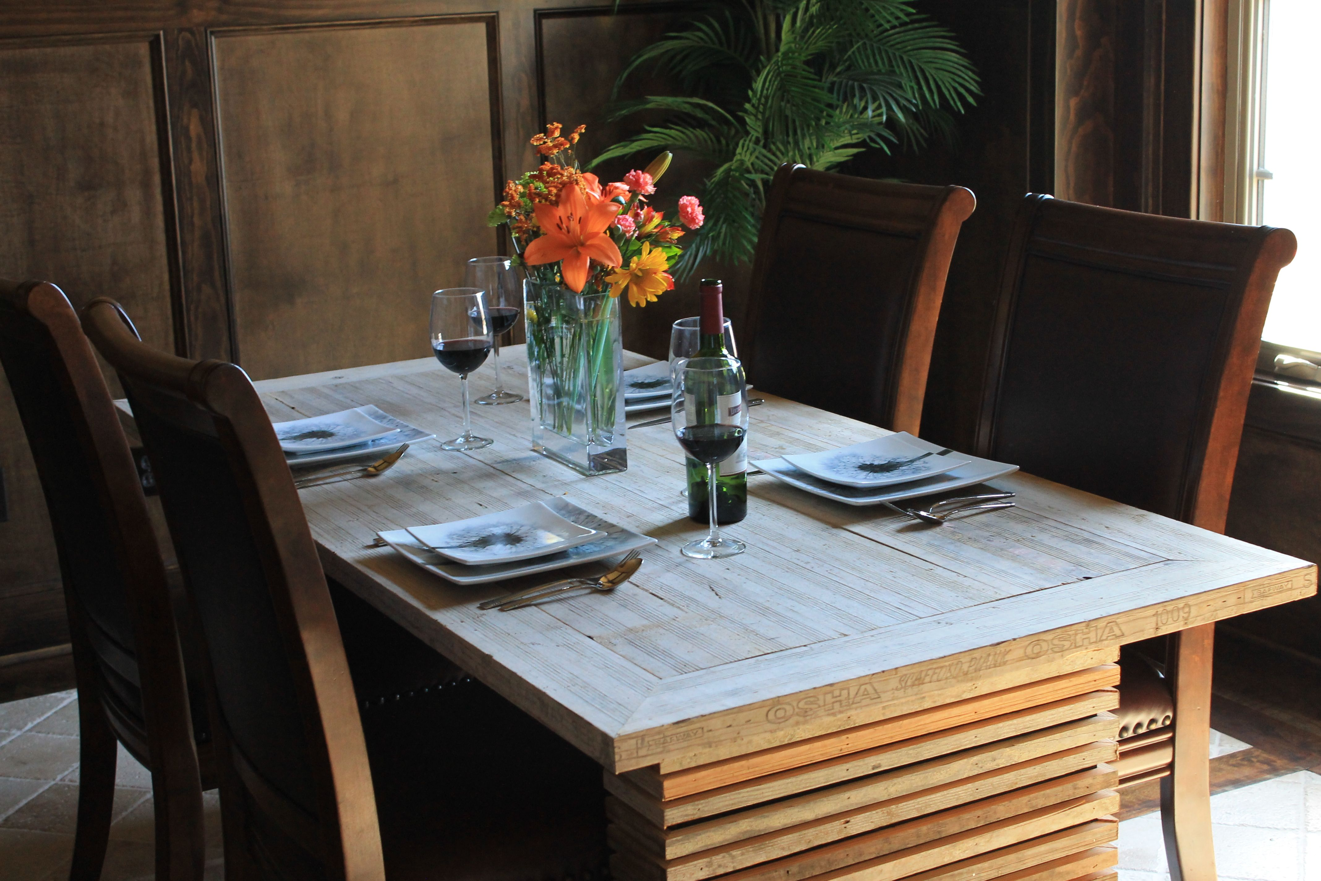 Dining Table Made From Reclaimed Scaffolding Plankswww Best Plank Dining Room Table Design Ideas