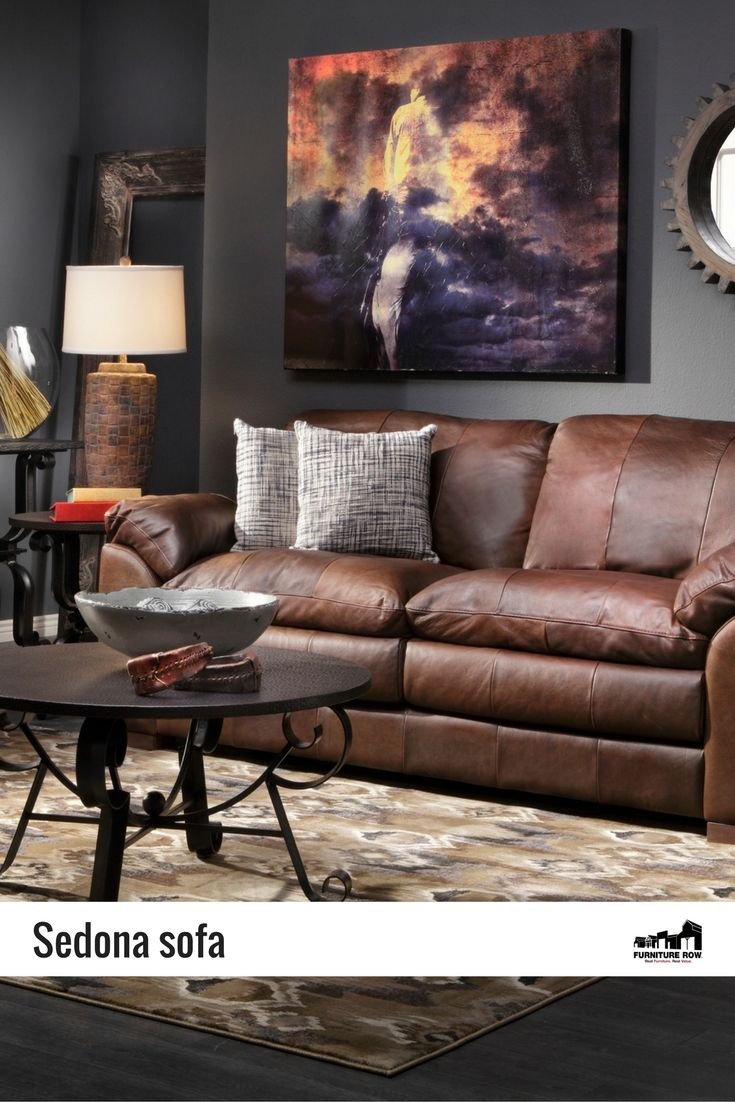 Sedona Sofa Lets You Sink Into The Luxury Of Italian Made 100 Aniline Leather With A Col Brown Living Room Decor Brown Living Room Dark Brown Sofa Living Room