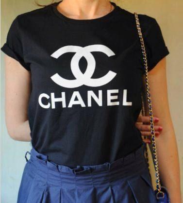 bb916124 Chanel T-Shirt, Chanel Shirt, Style Printed T-shirt , Woman Tee, Woman T- Shirt, Celebrity Tee, High Fashion tshirt