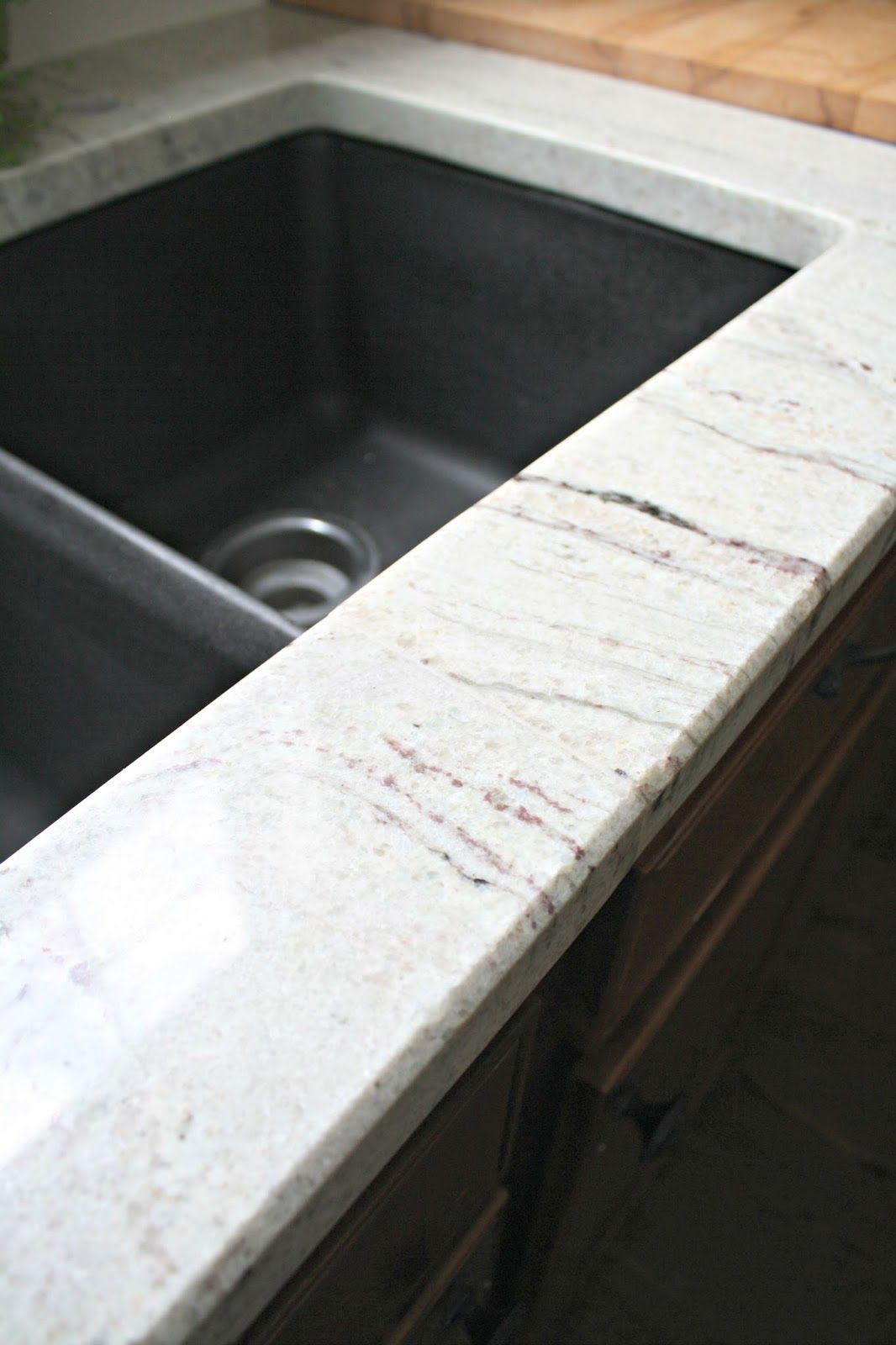Thrifty Decor Chick Kitchen Island Our Beautiful River White Granite Countertops! | Homes And