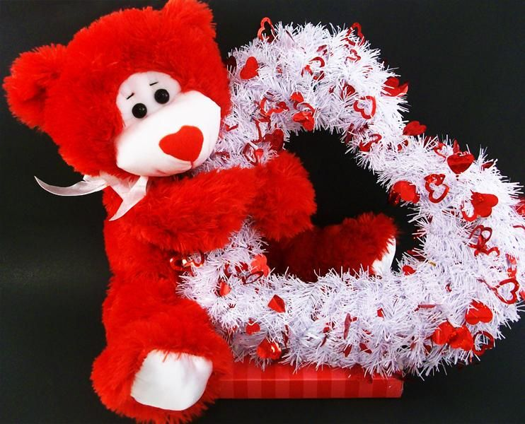 Lovely Valentine S Day Greeting Gisfts With Red Teddy Bear Doll Hold