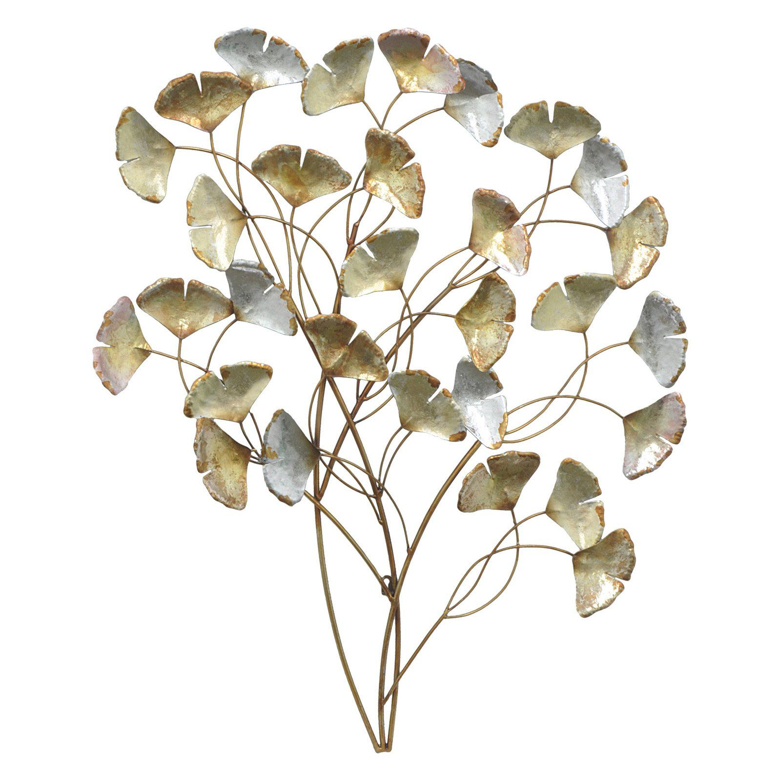 Three hands silver leaves metal wall art products
