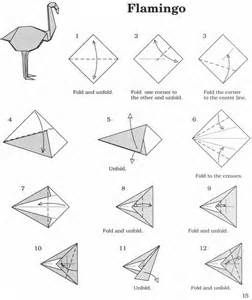 Flamingo Origami Diagram