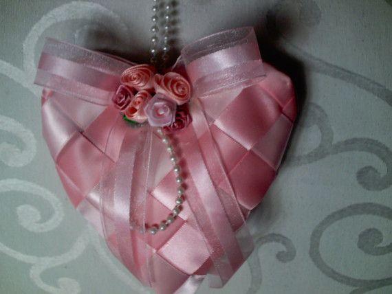 Woven Ribbon Hanging Heart Lavender Sachet Ribbon by thegifthutch